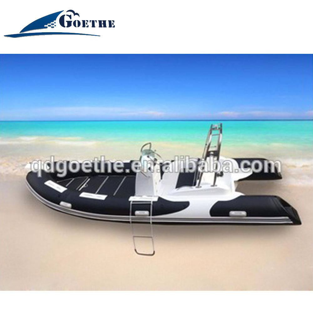 Goethe Factory Direct Top Sale 17' Inflatable Boat Rib Hypalon Inflatable Boat