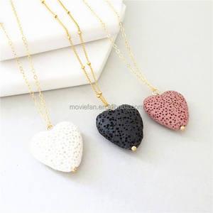 lava Diffuser Necklace Modern Diffuser Necklace Cora gift Triple Gold Diffuser Necklace Essential Oil Necklace Gold Diffuser Jewelry