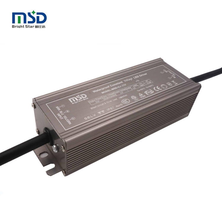 Five years warranty waterproof ip67 constant current led light driver transformer outdoor 12V 24v 30w led power supply