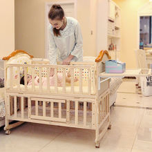 Environmental solid wooden sleeping baby bed cot /baby bed
