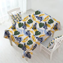 Waterproof Mildew proof  Flower Printed Polyester Fabric Tablecloth Covers for Square and Rectangle Home Party Table Cloth