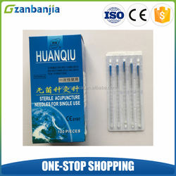Chinese Therapy Huanqiu Disposable Sterile Press Acupuncture Needles with Guide Tubes