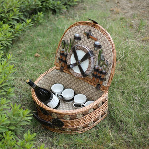 Wicker picnic basket set wicker picnic giỏ với nắp