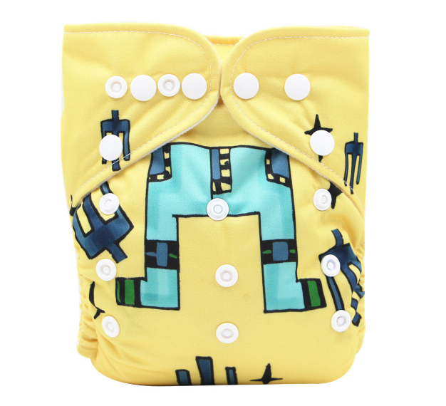 New popular PUL printed waterproof factory made baby cloth diaper