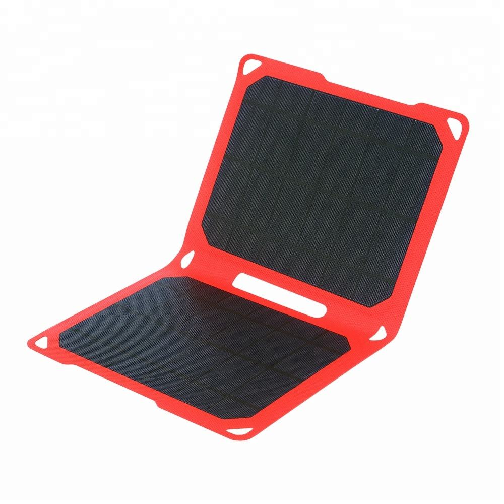 Solar Powered Phone Charger JWN-011 High Quality Waterproof Etfe Solar Charger And Powerful 10W Foldable Panel Portable Solar Charger For Mobile Phone Ipad