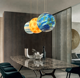 Earth acrylic moon Chandelier pendant led light for kid,living room,home
