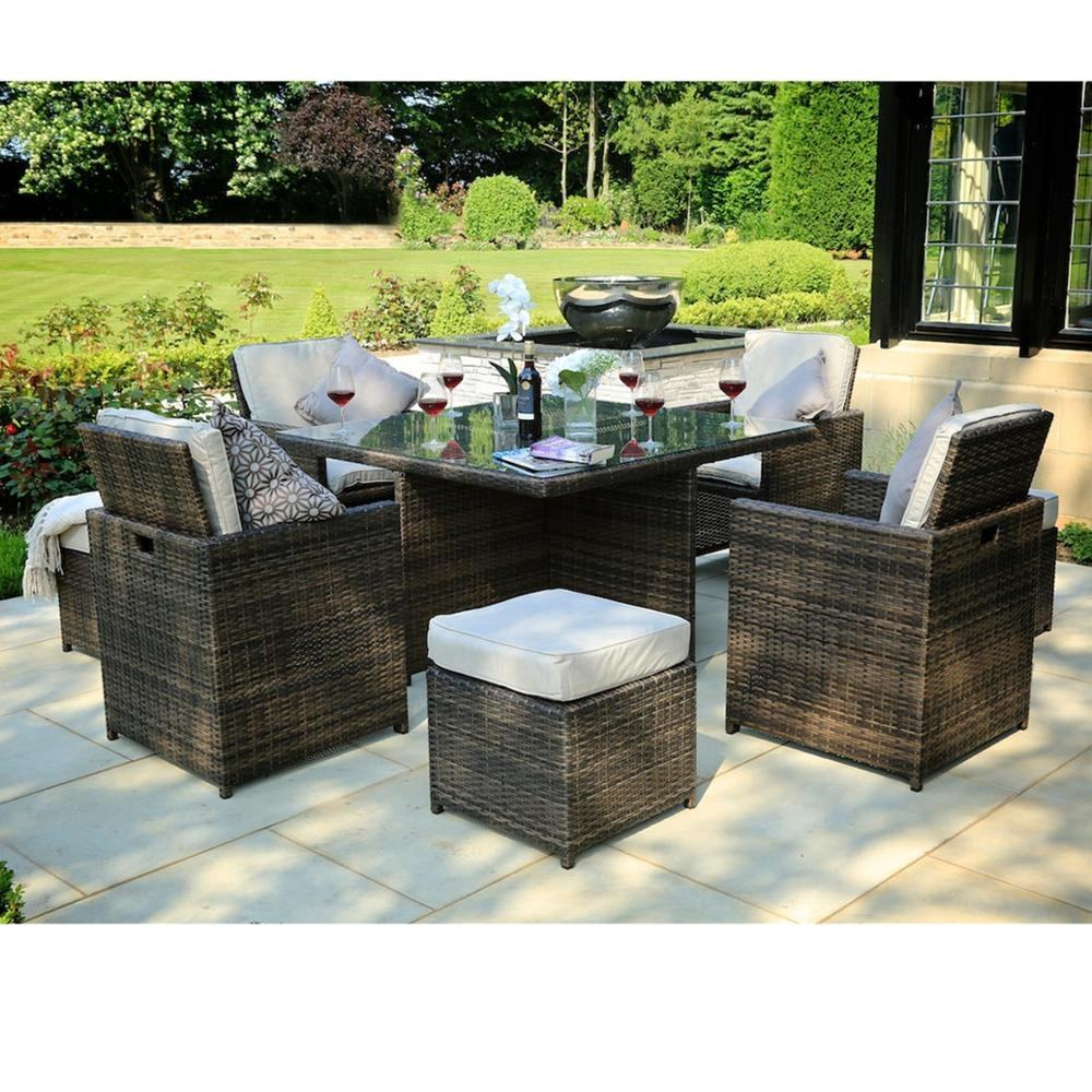 2019 Environmental design Wicker Patio Rattan Outdoor Furniture Garden Dining set