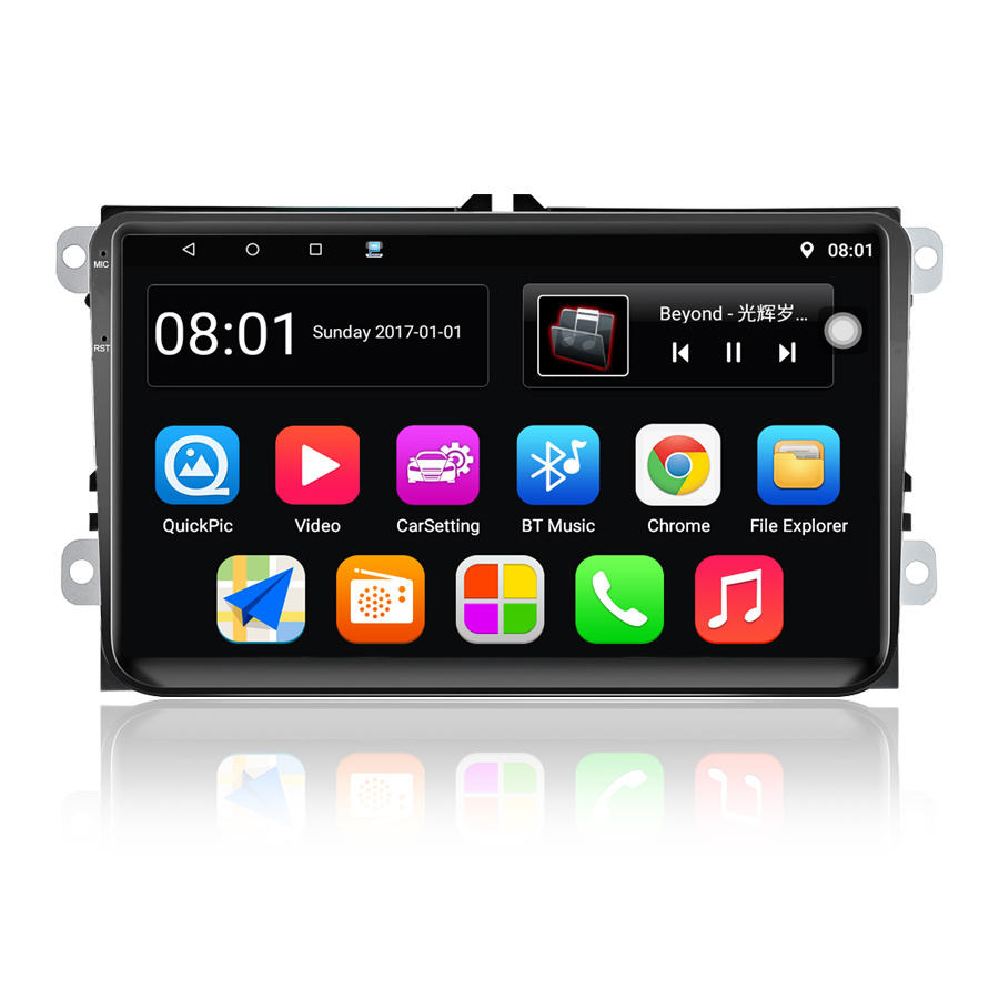 Auto Multimedia Player 9001 Android 8,1 2 Din GPS 9 Zoll Wifi Touch Screen Auto Radio Für <span class=keywords><strong>VW</strong></span>/Volkswagen/POLO/PASSAT/Golf