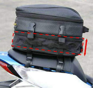 Factory OEM custom waterproof motorbike saddle bag motorcycle tail bag motorcycle with cover