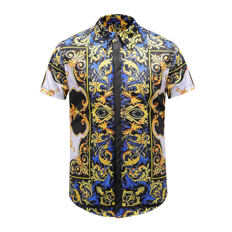 A3964 Hot sale camouflage floral men's shirt Popular Europe style sublimation dress shirts