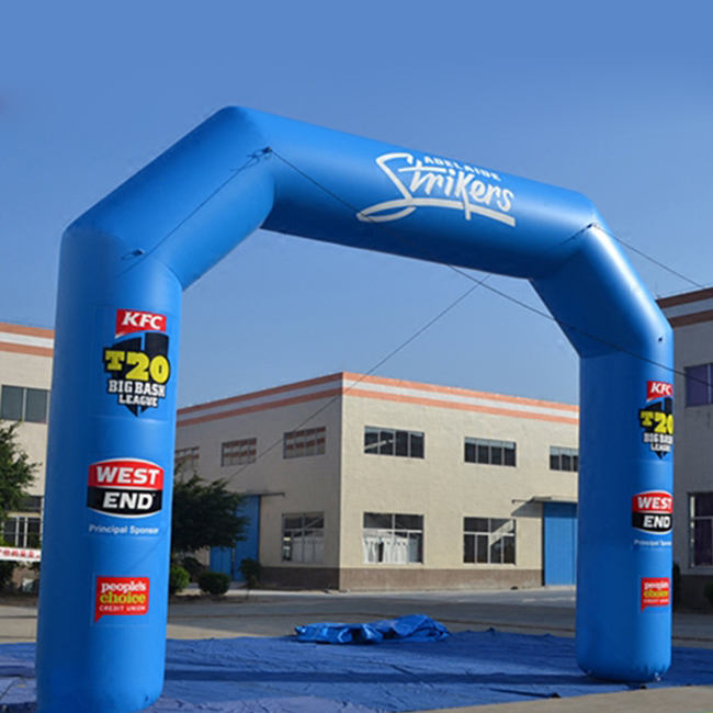 Promotional custom inflatable finish line arch with printing