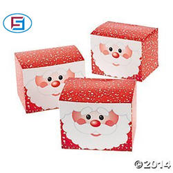 Wholesale 12 Cardboard Santa Paper Gift Box And Christmas Treat Box