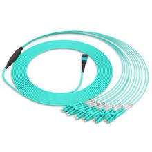 12 Fibers MPO MTP to LC OM4 40G MPO Multimode Fiber Optic Patchcord