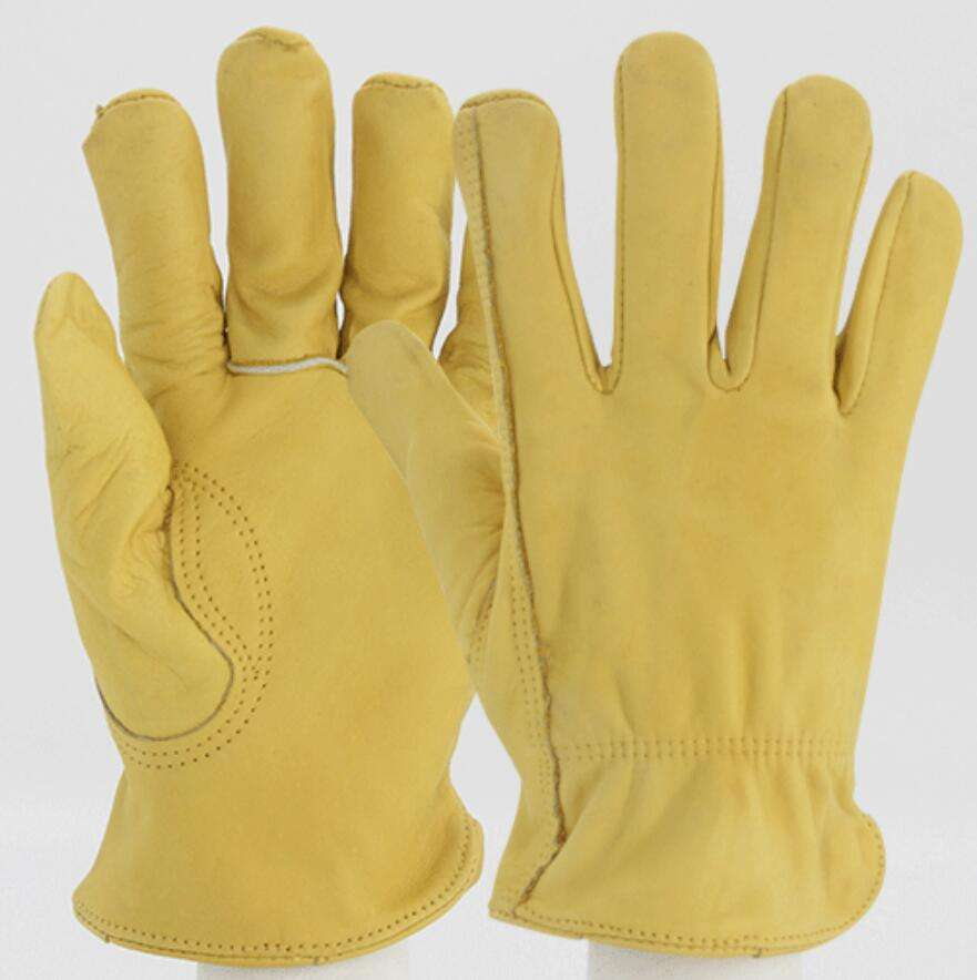 Factory Cheap Premium Protection High Dexterity Unlined Safety Work cow leather garden gloves