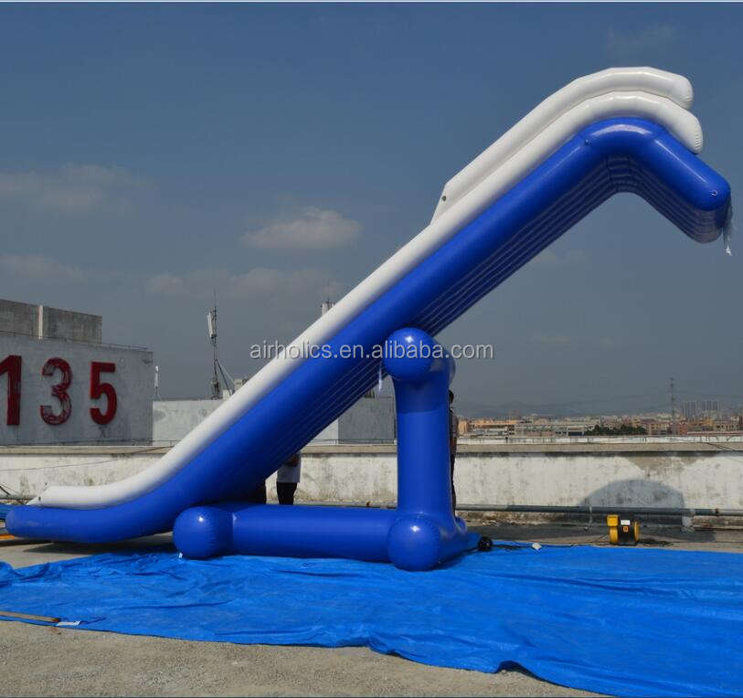 Yacht Slide Inflatables Water Games/Customized inflatable slides for yacht/cruiser,High water slide on sea W3060