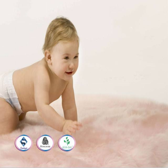 Top Quality Animal Fur Infant Sheepskin Rugs Baby Play Matt