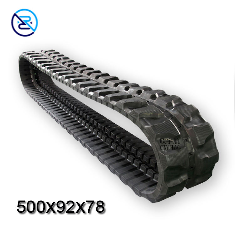 Hot sale machinery excavator atv rubber track 500X92X78 robot rubber track undercarriage
