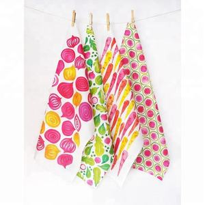 Custom printing set for kitchen cooking cotton tea towel