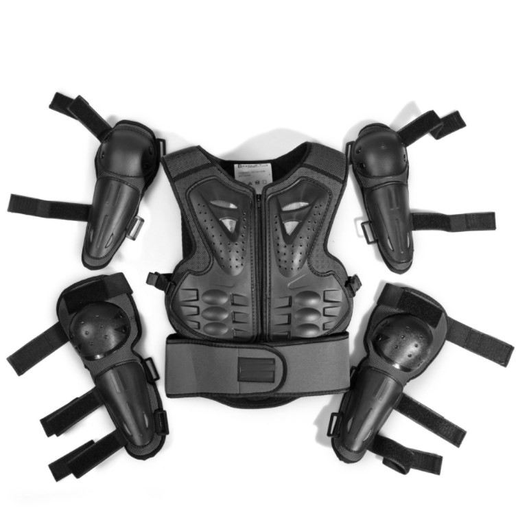 new hot riding hose safe protection full set Body Armor Vest Children Motorcycle Kids Body Armor
