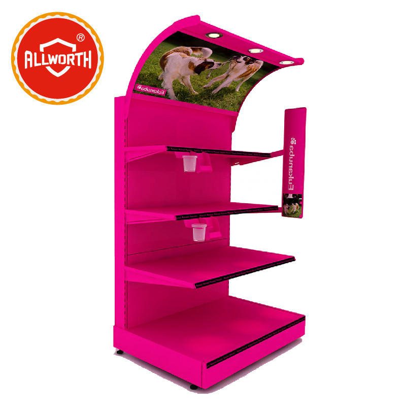 Supermarket Kawat Logam Display Rack, Rak Display, Rak Display