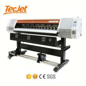 Tecjet Inkjet Grootformaat Roland Foto Eco Solvent Printer Digitale Banner Sticker Muur Flex Drukmachine Prijs