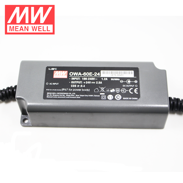 Meanwell OWA-60E-54 IP67 60 W 54 V AC/DC Power Adapter