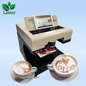 LSTA4-151 Wifi Support 1 or 4 cups Coffee Printing Edible Food Coffee Printer machine for Coffee Bar