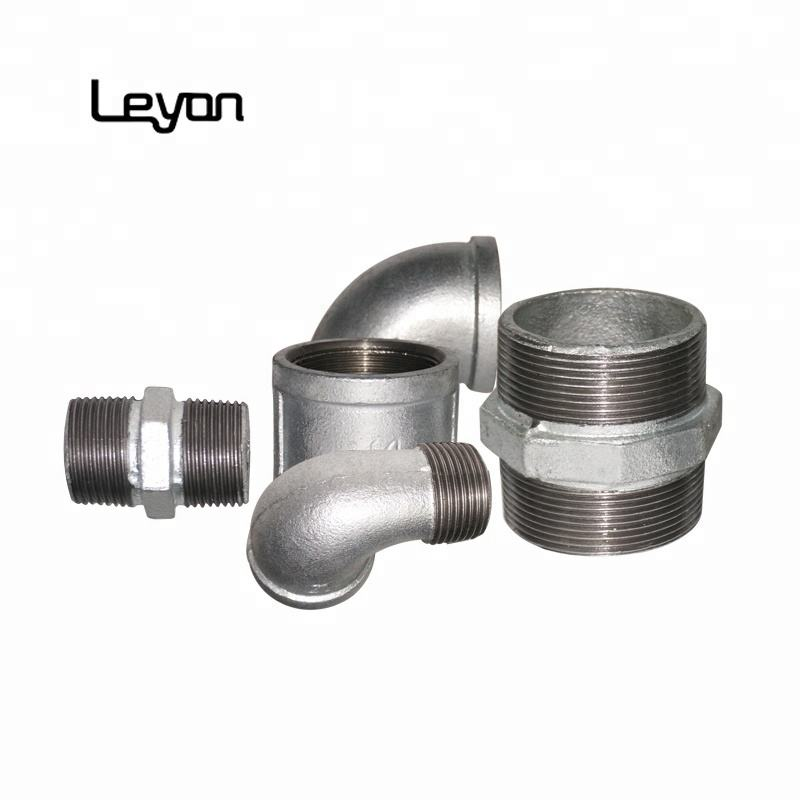 Hot DIP Galvanized Pipe Fitting Ditempa Casting Besi Pipa Gi Pipa Bahan Siku Tee Socket Coupling Fittings