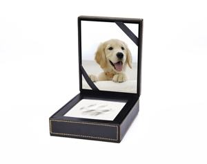 MKY PC01 Pet Memorial Dog Clay Paw Prints