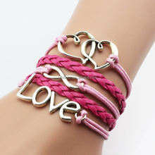 OEM Fashion Jewelry Lady Bracelet Handmade Women Leather Charm Bracelet
