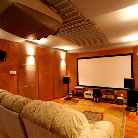 Home Theatre System Sound Absorption Wooden Grooved Acoustic Panel