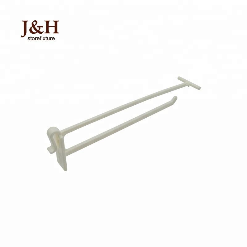 "J&H Storefixture Newest 3"" 4"" 5"" 6"" 7"" Grid Panel POP Cardboard Hanging Supermarket Corrugated Plastic Hook White Black"