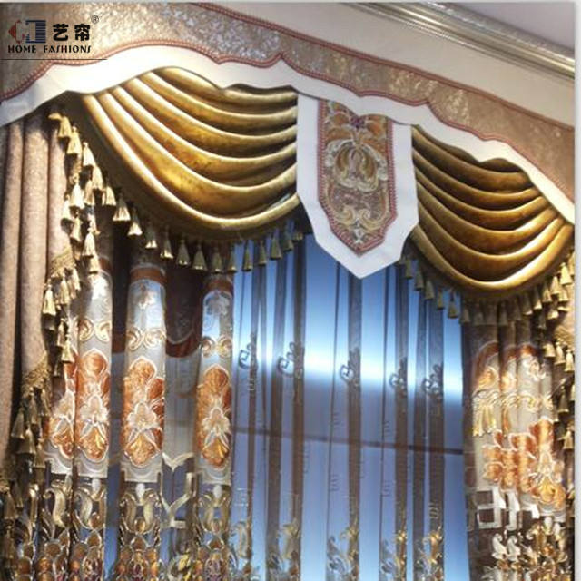 New product China supplier different kinds of fabrics with picture Turkey window curtains