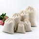 Wholesale gift organic cotton drawstring cotton packaging large canvas sacks bag
