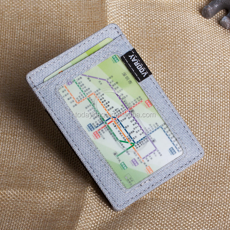 New canvas name card holder wallet with elastic band card holder