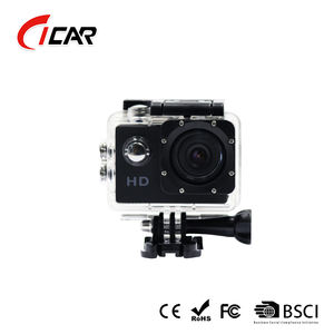 Free sample 30m Waterproof 720P action sport camera go pro style hd 720p from 2018 ISO9001 factory