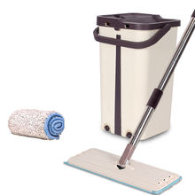 Floor Cleaning Flat Mop with bucket self cleaning floor cleaner mop