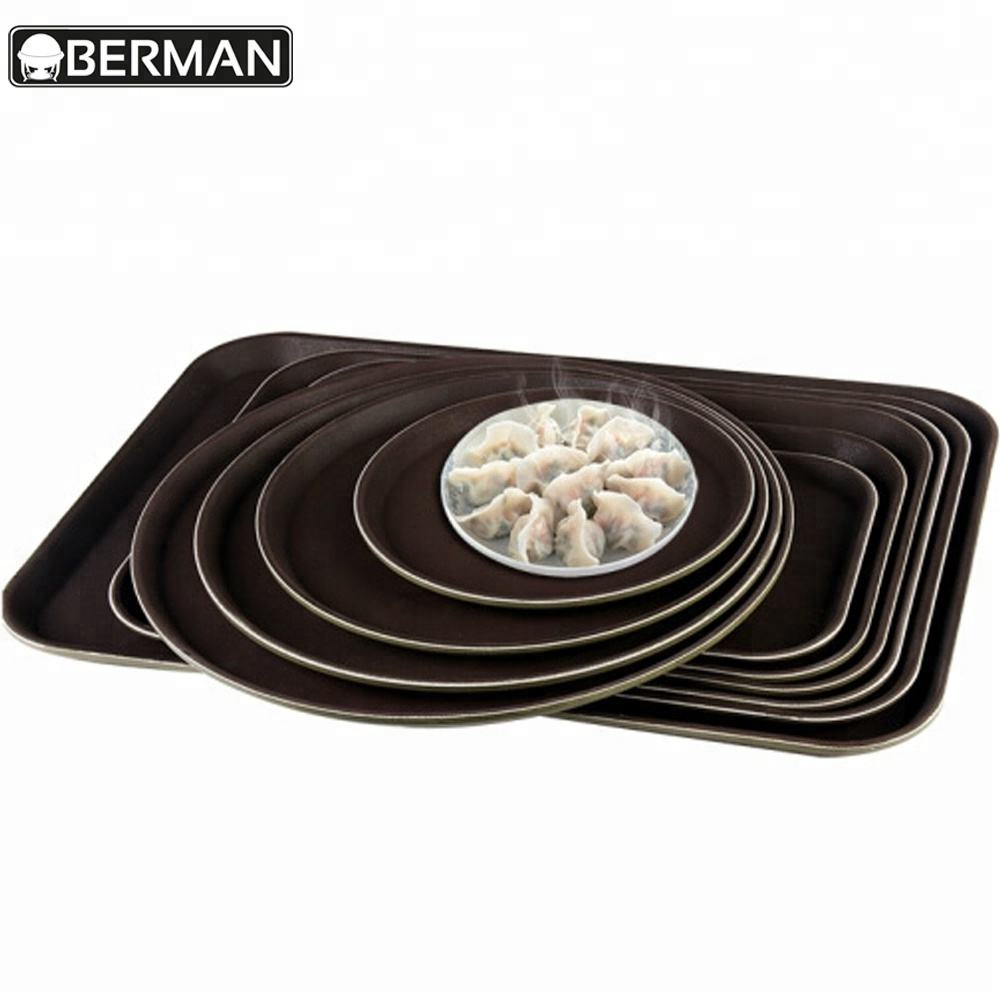 Restaurant equipment supplies wholesale plastic banquet hotel coffee non-slip food serving catering service tray