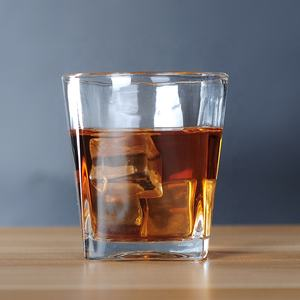 8oz old fashioned square whiskey glasses cup old fashioned whisky glass square shape