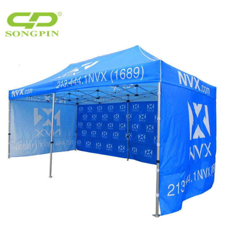 Logo printing Customized 10x10 easy up folding canopy tent for Holiday promotion