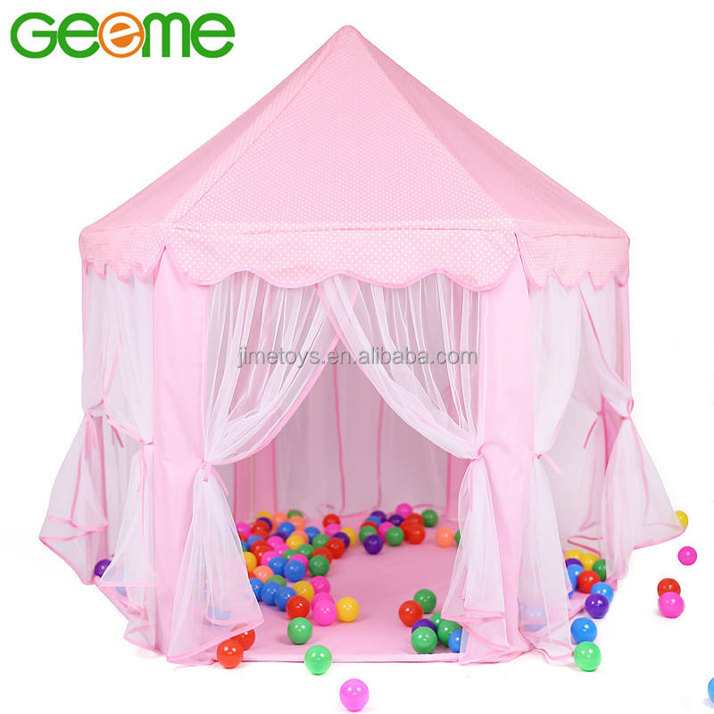 JT020 QUALITY 230T Polyester Fabric Fairy Princess Castle House Kids Play Tent