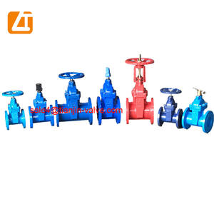 high quality ductile iron dn100 double flange metal sealing gate valve