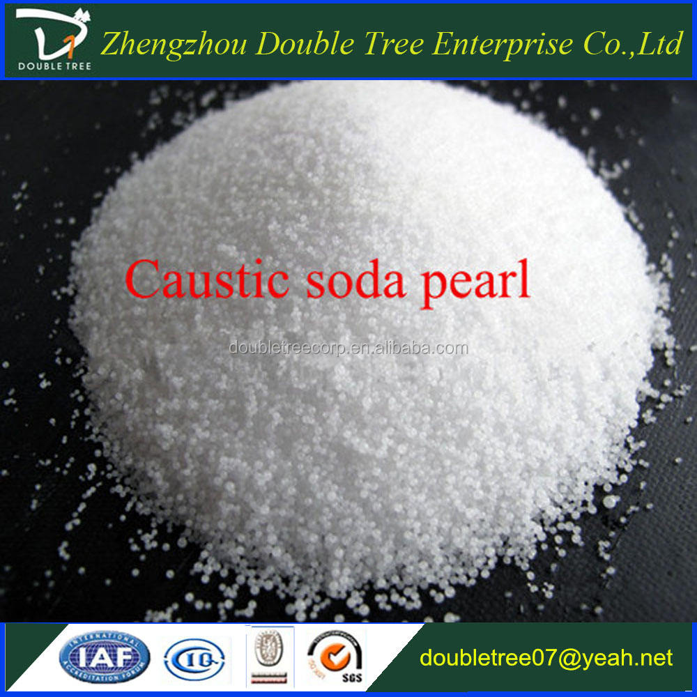 Factory best price 99% caustic soda pearls , sodium hydroxide beads