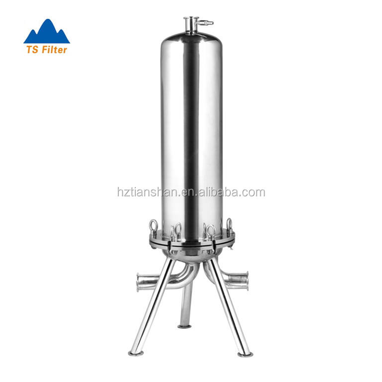 Stainless Steel Cartridge Filter Housing for Beer Filtration Process After Diatomaceous Earth Filters
