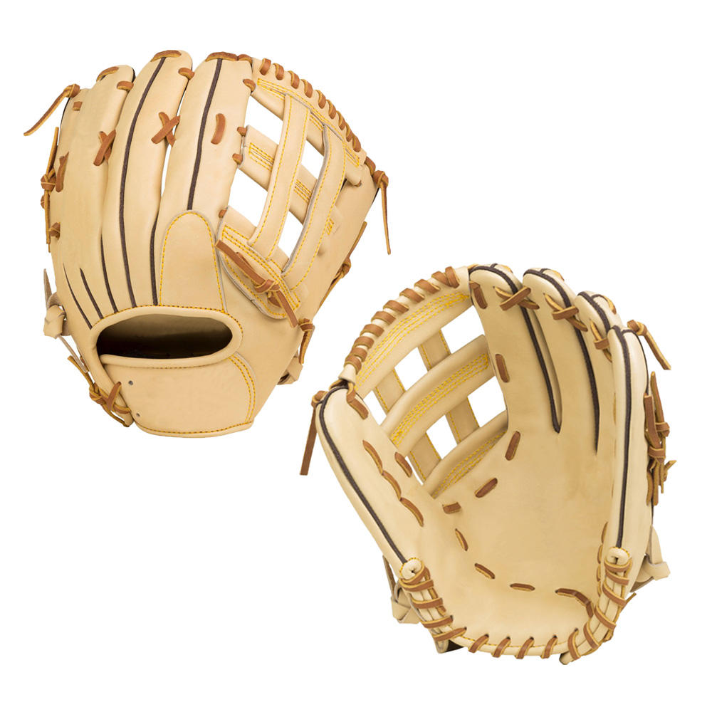 2020 New high quality custom baseball gloves with light brown leather gloves