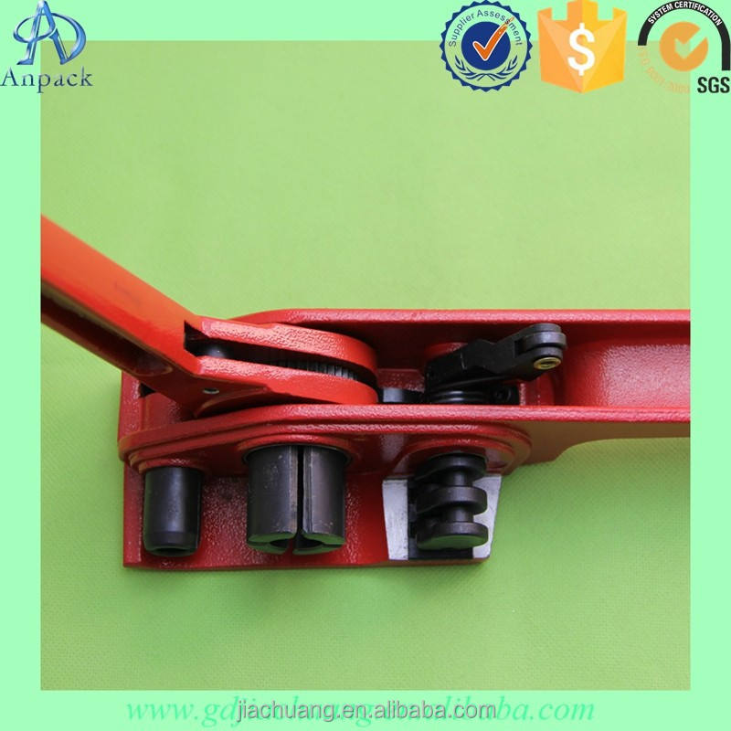 Manual Steel Strapping Band Alat Logam Strapping Tensioner dan Sealer untuk Tape Lebar 12-50 Mm