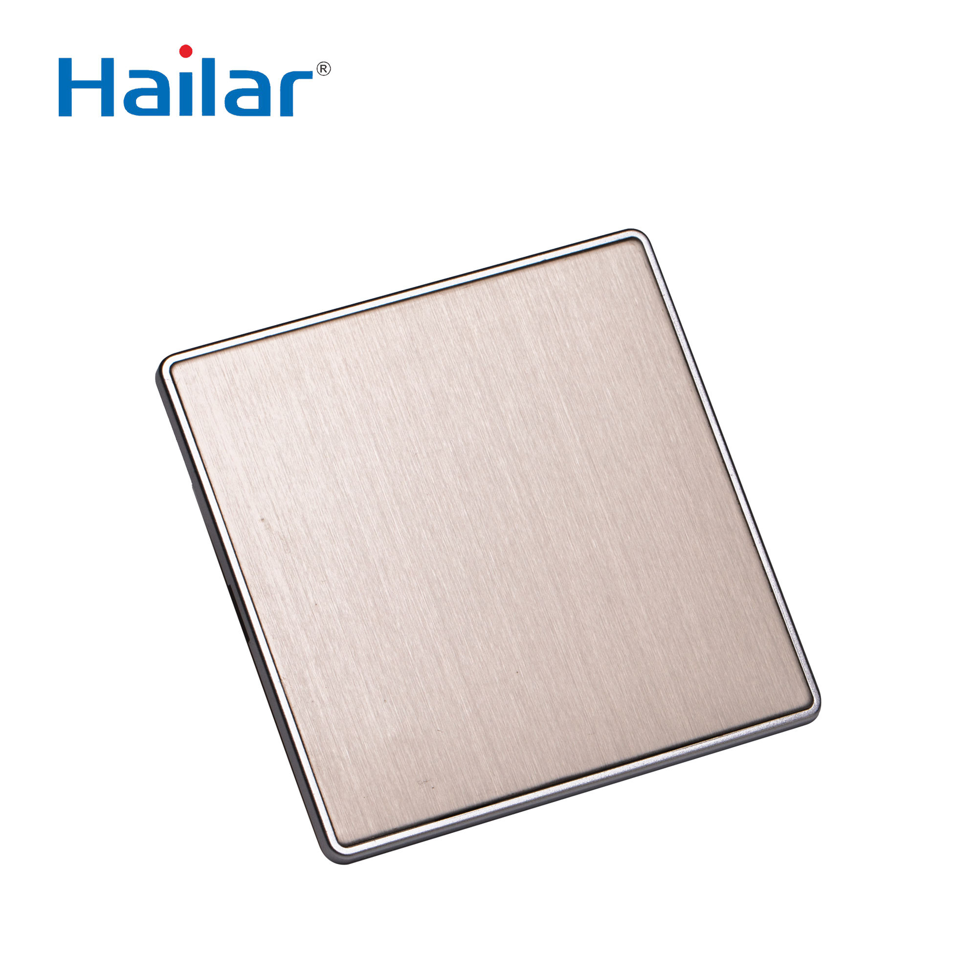 Hailar screwless brushed chrome blank wall switch plate 86*86mm