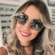 Sparloo 1834 Luxury Metal Frame Big Matrix New Fashion Trending Sunglasses for Women