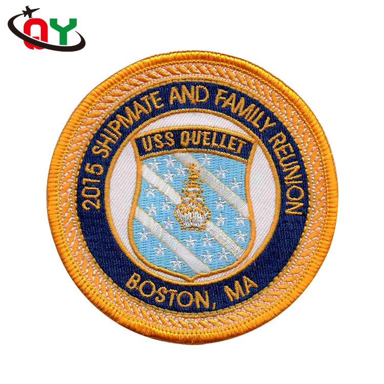 2017 fashion OEM design embroidered woven patch indian personality badge patches custom embroidery patch for clothing