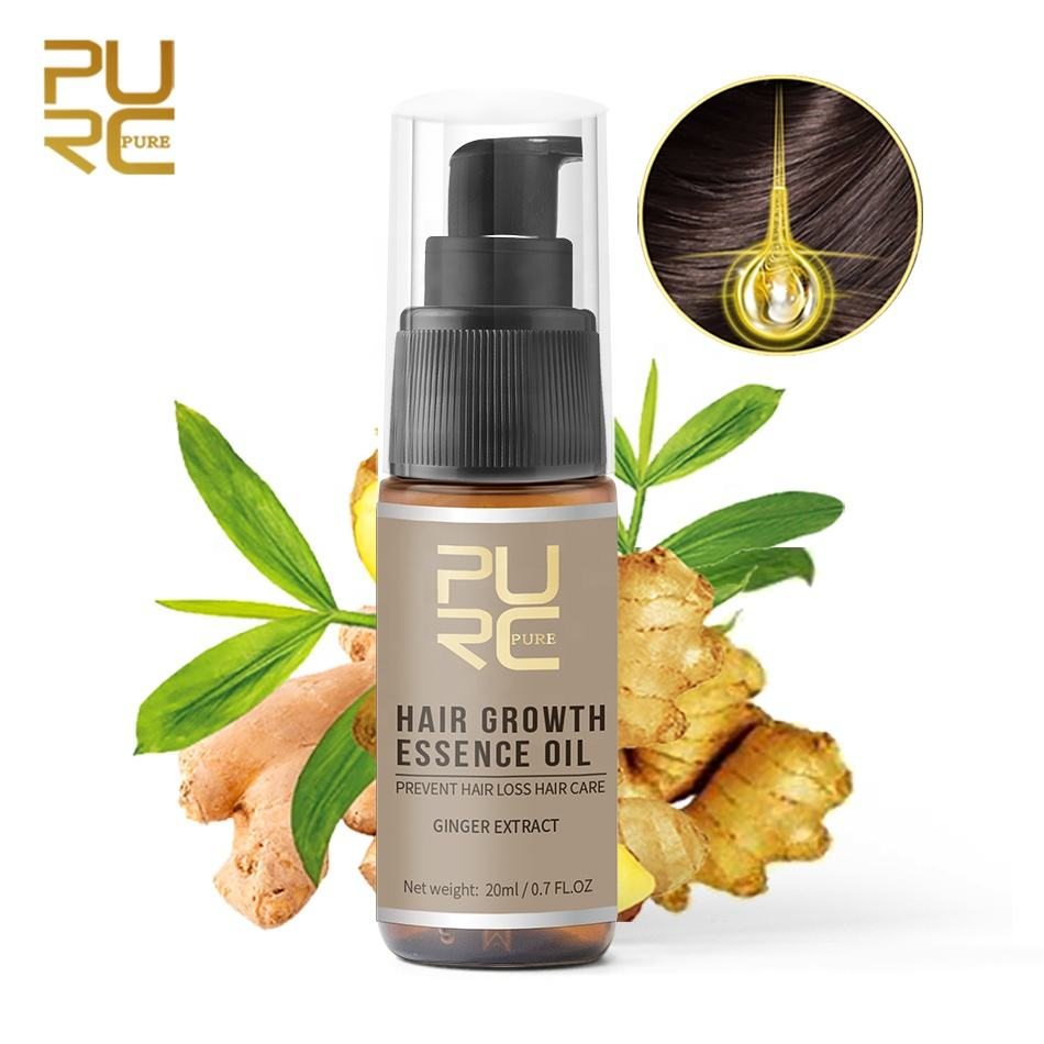 Hair regrowth oil / Ginger / Quick effect against hair loss